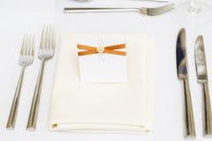Luxury wedding gala table setting Royalty Free Stock Image
