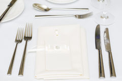 Luxury wedding gala table setting Royalty Free Stock Photos