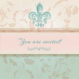 Luxury wedding invitation in Victorian style Stock Image