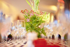 Luxury wedding reception table Royalty Free Stock Image