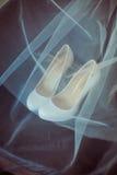 Luxury wedding shoes Royalty Free Stock Image