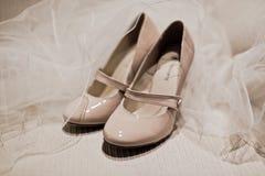 Luxury wedding shoes Stock Photography