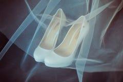 Luxury wedding shoes Stock Images