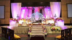 Luxury wedding stage. Luxury stage for malay wedding traditional royalty free stock photos
