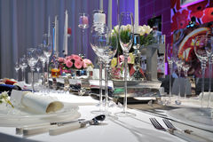 Luxury wedding table reception Royalty Free Stock Image