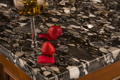 Free Luxury White And Black Kitchen Countertop. Granite Counter Concept. Stock Image - 96587651