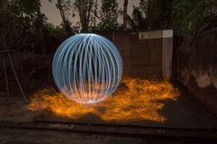 Luxury white ball on fire royalty free stock images