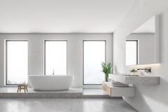 Free Luxury White Bathroom Interior Royalty Free Stock Photo - 121746605