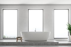 Free Luxury White Bathroom Interior Close Up Royalty Free Stock Images - 121746619