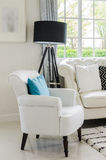 Luxury white chair in living room Royalty Free Stock Image