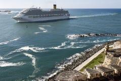 Luxury White Cruise Ship Stock Photo