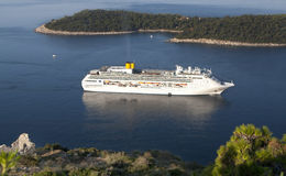 Luxury white cruise ship Stock Image