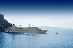 Luxury white cruise ship Stock Photo