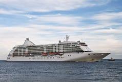Luxury white cruise ship Royalty Free Stock Photo
