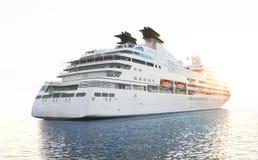 Luxury white cruise ship Royalty Free Stock Photography