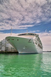 Luxury white cruise ship Stock Photography