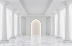 Luxury white empty room classic space interior 3d rendering image Stock Image