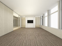 Luxury White Empty room, 3D Rendering Meeting Room, Interior des. Ign illustration Royalty Free Stock Images