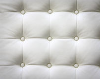 Luxury white leather Stock Photography