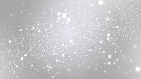 Luxury white particle glitter abstract background for happy new year and merry christmas festive season middle light ray stock footage