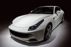 Luxury white sport car Royalty Free Stock Photo