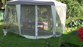 Luxury white tent with protection from mosquito  Stock Photography