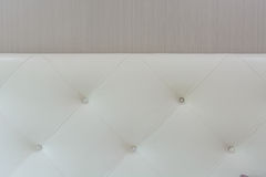 Luxury white texture of leather furniture decorated Stock Images