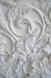 Luxury white wall design bas-relief with stucco mouldings roccoco element Royalty Free Stock Photo