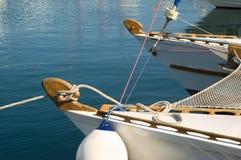 Luxury white yacht Stock Image