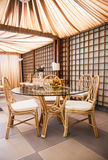 Luxury Wicker Interior Stock Images