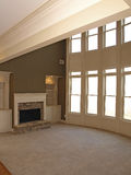 Luxury Window Arch with Fireplace Stock Image