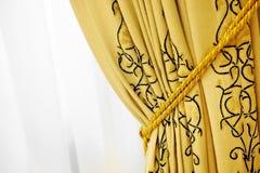 Luxury window curtain Stock Photo