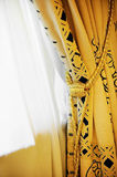 Luxury window curtain Royalty Free Stock Image