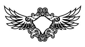 Luxury Wings. ( Coat Of Arms Stock Image