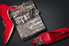 Modern woman accessories. Stock Photos