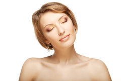 Luxury woman with a beautiful makeup Royalty Free Stock Photo