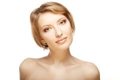 Luxury woman with a beautiful makeup Royalty Free Stock Photos