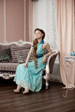Luxury woman in fashion interior Royalty Free Stock Photos