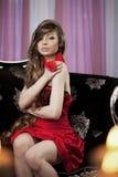 Luxury woman in fashion interior Stock Image