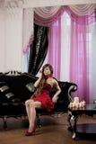 Luxury woman in fashion interior Royalty Free Stock Photo