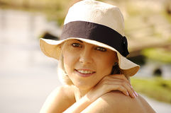 Luxury woman in hat Stock Photo