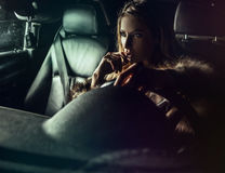 Free Luxury Woman In A Car. Royalty Free Stock Photo - 34790865