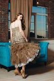 Luxury Woman in Loft Interior Royalty Free Stock Photos