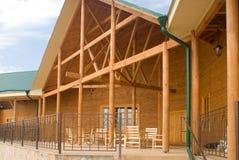 Luxury wooden house Stock Photo