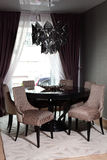 Luxury wooden table in the room Stock Photos