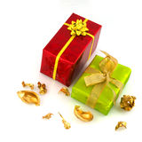 Luxury wrapped presents Stock Images