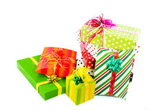 Luxury wrapped presents Stock Photos
