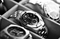 Luxury wristwatches Royalty Free Stock Images