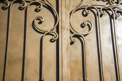 Luxury Wrought Iron Fence Detail Stock Photos