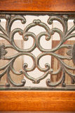 Luxury Wrought Iron Fence Detail Royalty Free Stock Images
